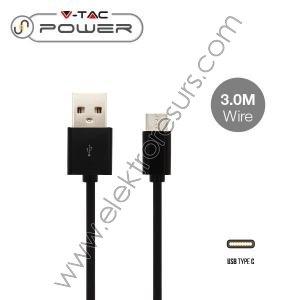 кабел 3м-TYPE USB черен 8455