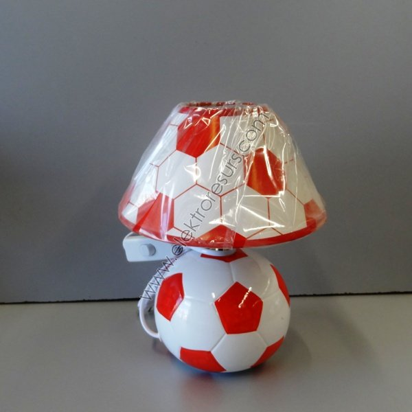 настолна лампа А2323 фут.топка червена
