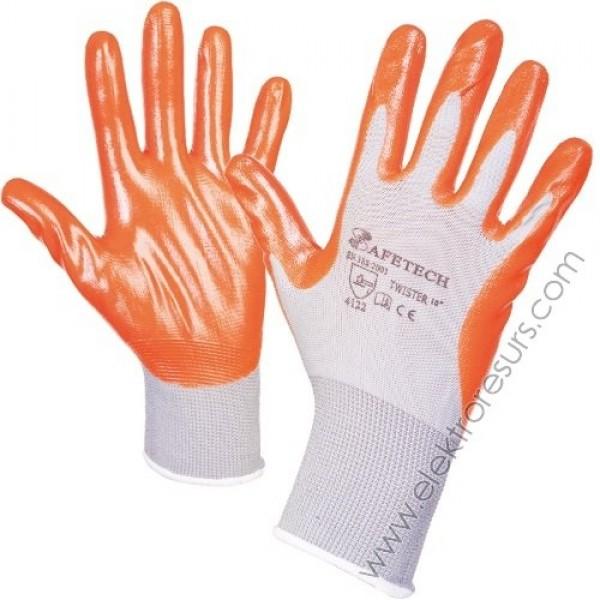 ръкавици оранжеви промазани евтини