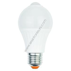 LED Крушка Е27 6W Датчик 4000K