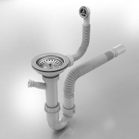Сифон за еднокоритна мивка Ф90