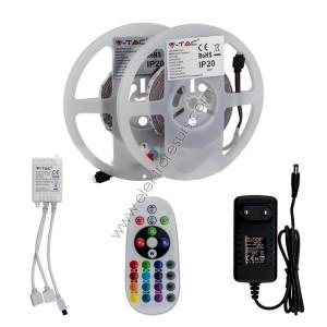 LED Лента 5050 IP20 RGB 4.8W Дистанционно+Адаптор