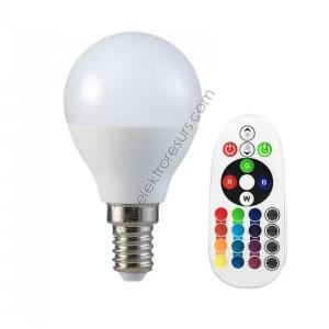 LED Крушка Е27 3.5W Дистанционно RGB+6400K