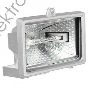 Прожектор халогенен 150w Бял