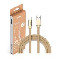 Кабел USB TYPE C 1м Злато RUBY