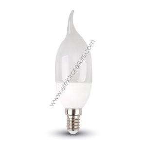 LED Крушка E14 4W Пламък 4500К