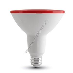 LED Крушка Е27 15W Червен PAR38