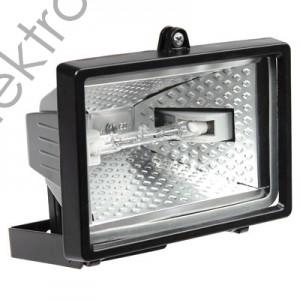 Прожектор халогенен 150w Черен