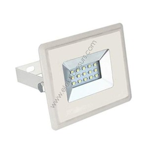 LED прожектор 10w 3000k бял корпус