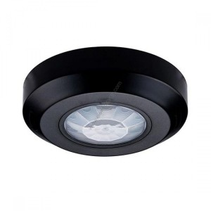 Датчик за движение 360° Инфраред Мини За таван Черен