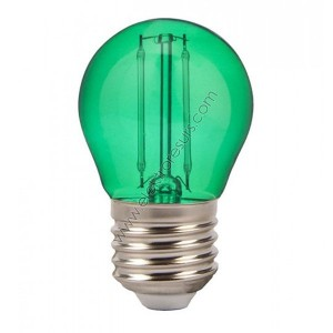 LED Крушка Е27 2W Сфера Зелена