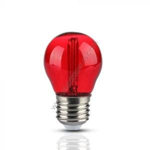 LED Крушка Е27 2W Сфера Червена