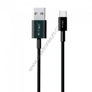 Кабел USB MICRO 1м Черен SILVER