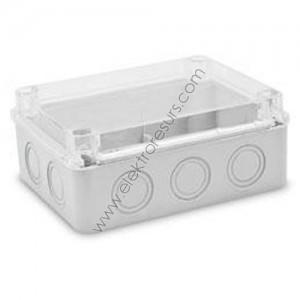 кутия ПКОМ 190х145х 80 прозрачен капак cp1452