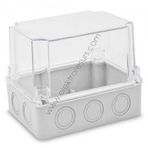 кутия ПКОМ 190х145х140 прозрачен капак cp1472