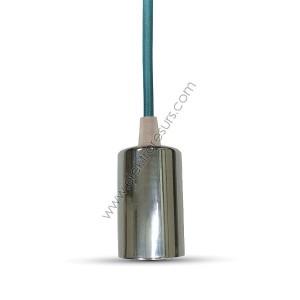 Пендел Хромиран купол Тъмно син кабел