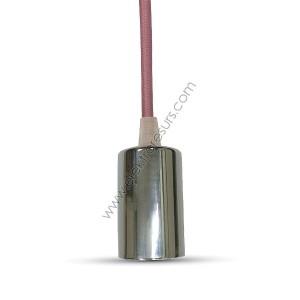 Пендел Хромиран купон Тъмно розов кабел