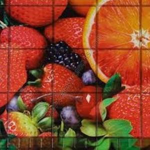 гръб за кухня PVC 4607 Плодов десерт
