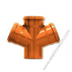PVC двойно разклонение Ф160 / Ф160 / Ф160/ 45'
