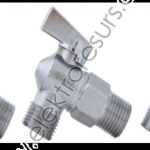 Спирателен кран ъглов 1/2-3/4 филтър