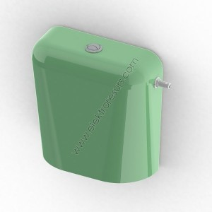 Тоалетно казанче Двустепенно Зелено