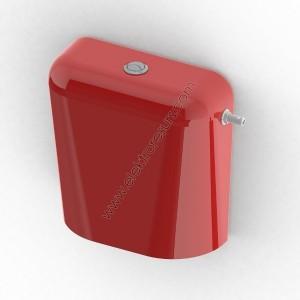 Тоалетно казанче Двустепенно Червено
