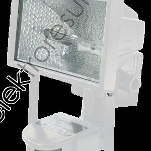 Прожектор халогенен 150w Бял + Сензор