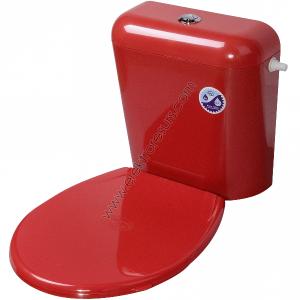 Капак за тоалетна чиния Червен